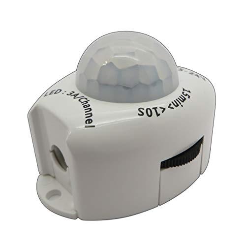LED IR Bewegungsmelder 12V DC Bewegungssensor Bewegung PIR Sensor für LED Streifen/Leuchtmittel 12V 4A - PB-Versand® (mit Hohlsteckeranschluss)