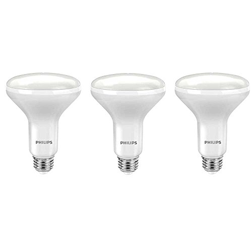 Philips LED 464198 Soft White 65 Watt Equivalent Dimmable BR30 LED Light Bulb, 3 Pack, 3-Pack, 3 Count