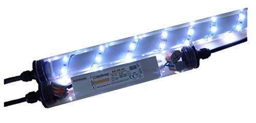 Led Gabionen Licht Beleuchtung LED 2x0,70m länge 360° Farbe kaltweiss Außenbeleuchtung Steinmauer Garten Anschluß 230 Volt über offene Kabelenden