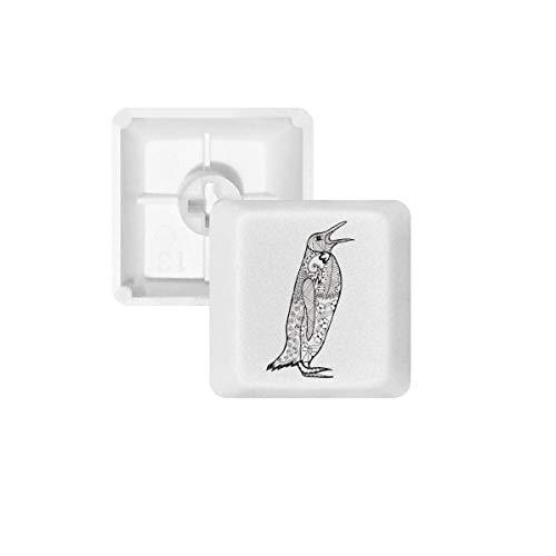 DIYthinker Lindo del Pingüino Retrato Animales Teclas Bosquejo Pbt para Teclado Mecánico Blanco OEM No Marca De Impresión