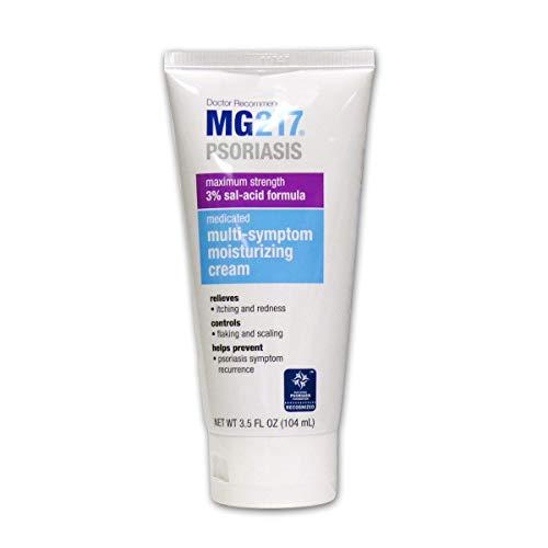 MG217 Medicated Moisturizing Psoriasis Cream With 3% Salicylic Acid - 3.5 oz Tube