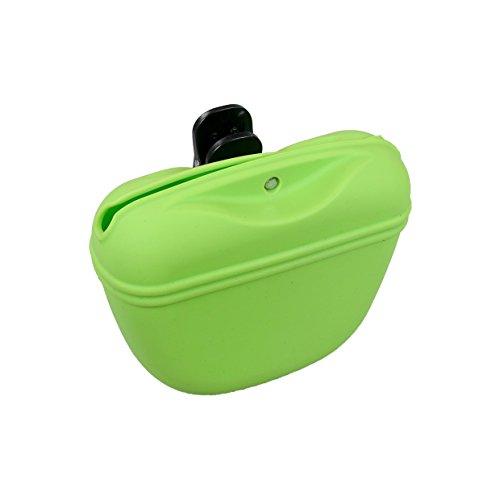 Rosewood Bolsa de Silicona para Perros de Viaje y Entrenamiento, Color Verde