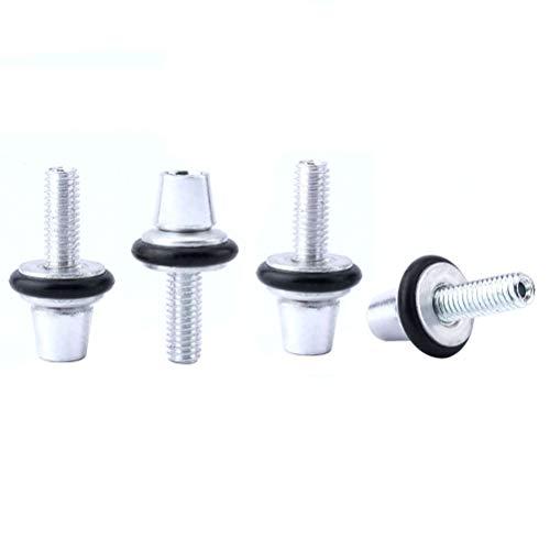 VORCOOL Einstellschraube Fahrradbremse Aluminiumlegierung Bremsleitung Befestigungsschraube 4 Stücke M6 (Silber)