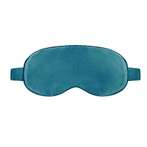 Rest blindfold Therapy Heated Eye Mask Silk Eye Patch Fatigue Relief Eye Massager Blindfold ZhiXinYueErTianJinHuanBaoKeJiYouXianGongsi (Color : Green)