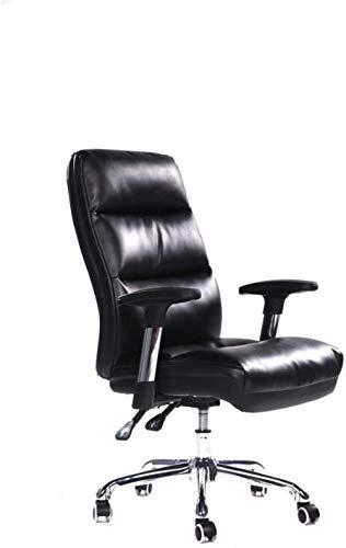 LTHDD Silla de Oficina ergonómica Home Moderno Minimalista Silla Silla Rotatoria Reclinable Silla, Negro, Negro, Color Nombre: Negro (Color : Black)