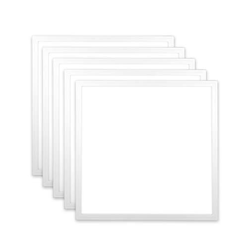 ENEC Xtend PLs3.0 - Juego de 5 paneles LED (62 x 62, 36 W, 5000 K, 120 lm/W, 4320 lúmenes, luz blanca neutra, marco blanco)