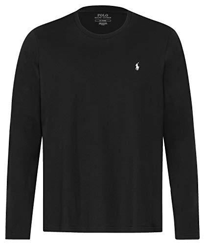 Polo Ralph Lauren T-shirt à manches longues et col rond pour homme - Noir - Small