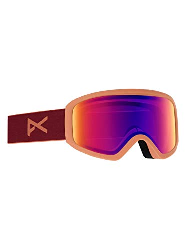 Anon Damen Insight with Spare Snowboard Brille, Ruby/Sonar Infrared Blue