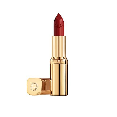 L'Oréal Paris L'Oréal Paris Color Riche Satin 124 S'il vous plait, farbintensiver Lippenstift mit Argan-Öl und Vitamin E, pflegt die Lippen, Satin Finish