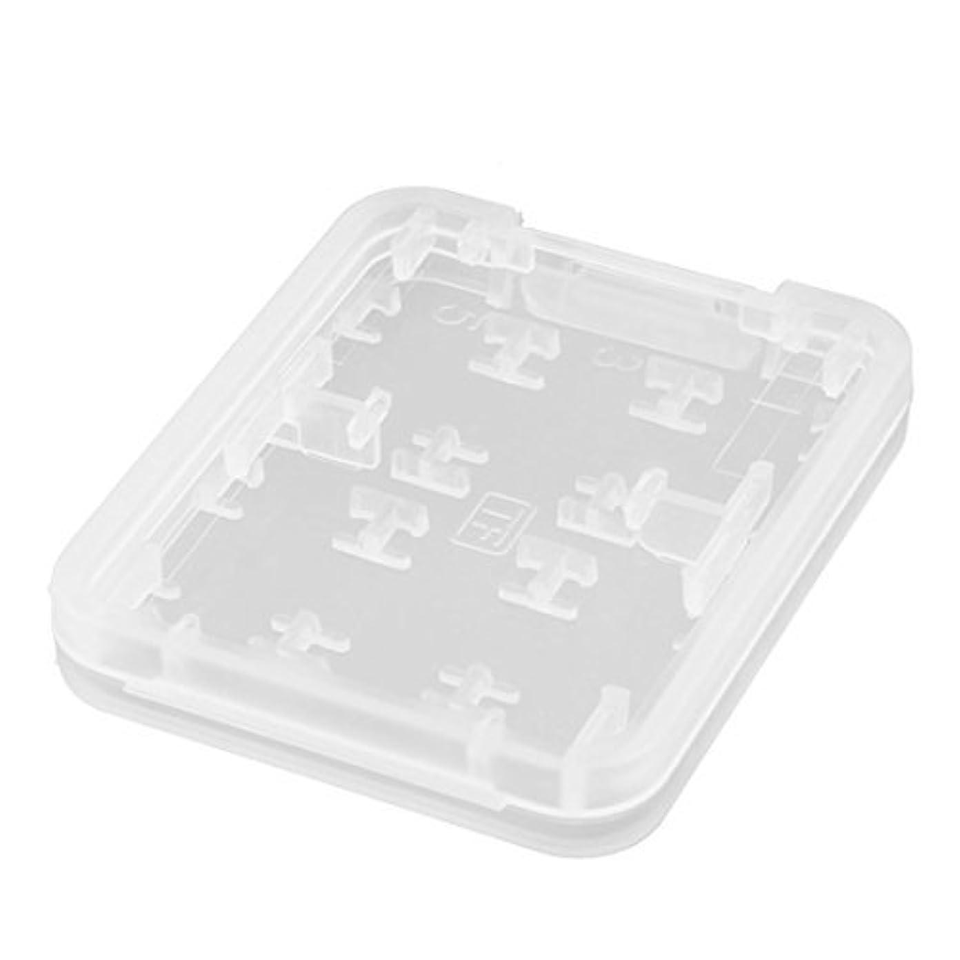 横たわるまだ競合他社選手eDealMax Plastique 8個の排気口 マイクロSD TF MS Carte mémoire SDHC de ストッキングホルダー ホワイトボックス