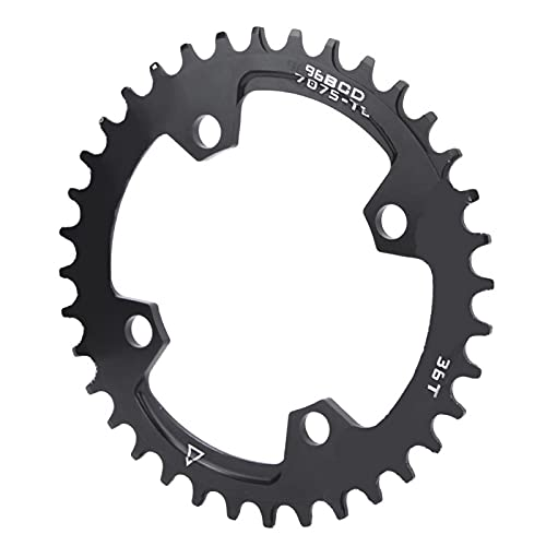 Anillo de cadena de bicicleta de montaña Anillo de cadena de reparación de plato redondo para competición de entrenamiento para montar en senderos(36T)