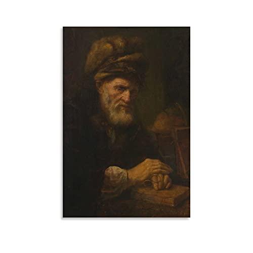 En gammal man i en pälsmössa – kan köpa Van Der PluymPoster HD duktryck