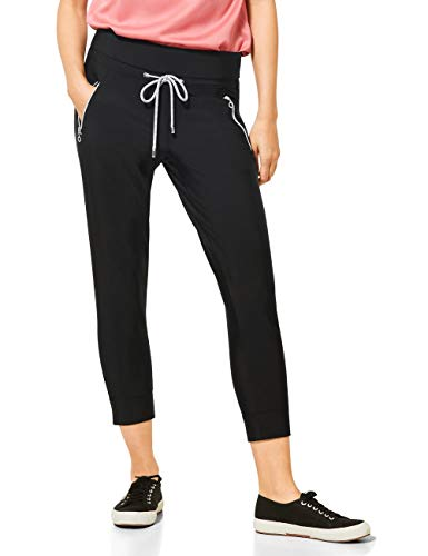 STREET ONE Damen 373211 Hose, Black, W40/L26