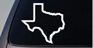 CMI199 TEXAS state sticker decal car truck window college football Hog Hunting | White | 4.5