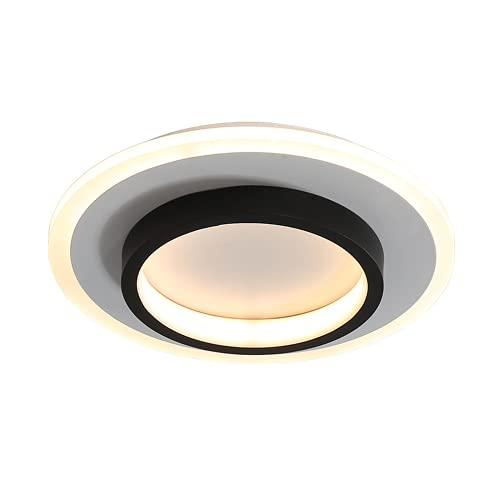 Led Lámpara De Techo Sala De Estar,Plafon De Techo Para Dormitorio,Lámparas Sencillas Y Modernas 24 Cm Redondo Luz Blanca