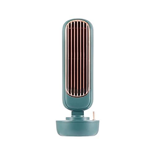 CHENXTT Ventilador USB para verano, humidificador y pulverizador de refrigeración, ventilador de sobremesa, ventilador de torre portátil, color verde, 10,9 x 4,1 pulgadas
