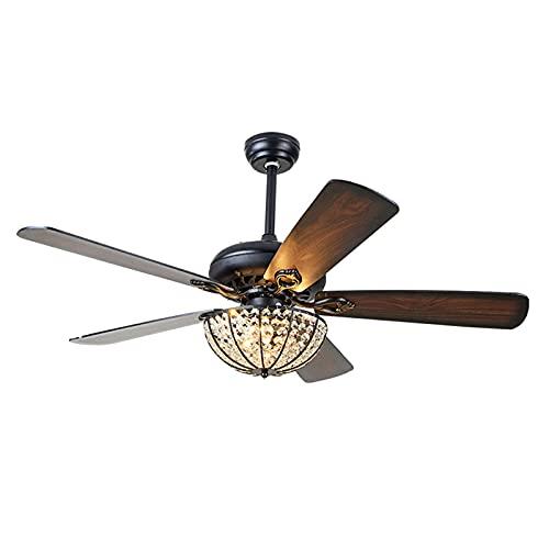 Heating Pads Ventilador De Techo con Luz 75 W,68 Inch De DiáMetro,5 Aspas De Madera,3 Velocidades,FuncióN Invierno,Mando A Distancia,Ultrasilencioso,Black,68 Inch