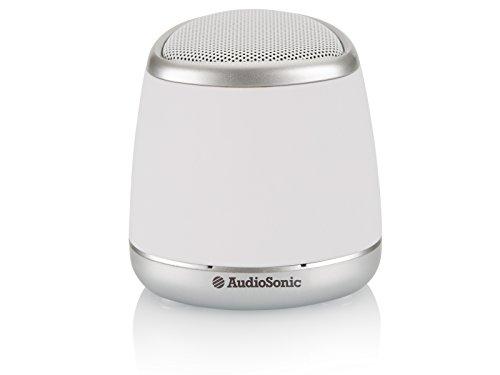 Audiosonic SK-1505 - Altavoz Bluetooth con batería Recargable, Color Blanco