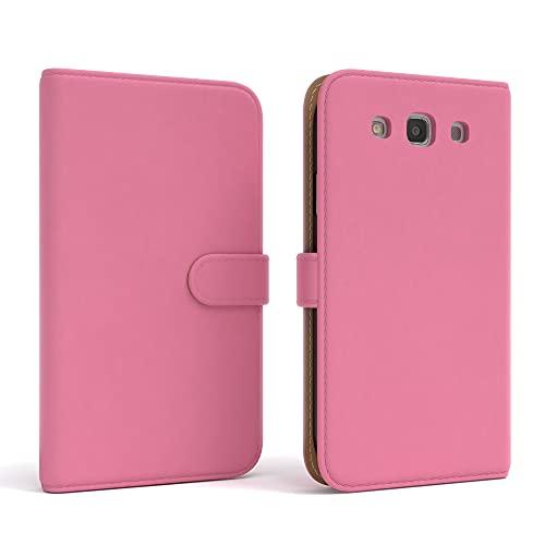 EAZY CASE Tasche kompatibel mit Samsung Galaxy S3 / S3 Neo Schutzhülle mit Standfunktion Klapphülle Bookstyle, Handytasche Handyhülle mit Magnetverschluss & Kartenfach, Kunstleder, Rosa