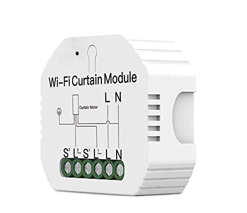 Interruptor Persiana WiFi Smart Switch para Toldo y Persiana Obturador de Rodillo Mini Relè Módulo Receptor Inteligente Comando de Voz Alexa y Google Home IFTTT AC 220V