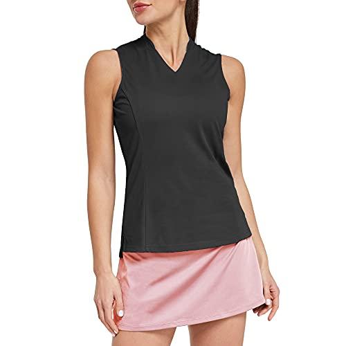 Ogeenier Damen Poloshirt Golf-T-Shirt ärmelloses Shirt