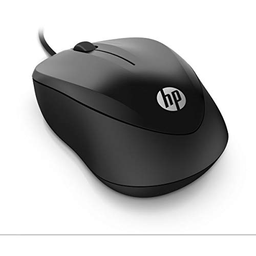 HP 1000 Black Wired USB Mouse