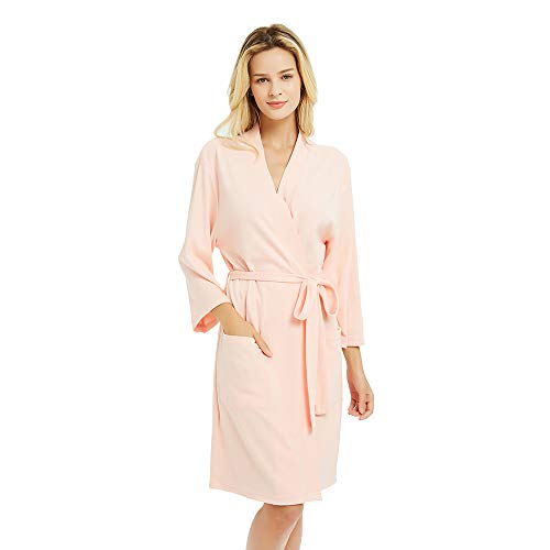 Image of Pretty Lightweight Women's Cotton Knit Robes - See More Colors & Styles
