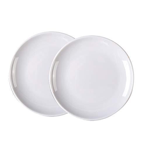 Weanty 2-teiliges Speiseteller-Set, weiß, unzerbrechlich, Melamin, Kunststoff, Teller für Zuhause, Hotel, Fast Food, Buffet Teller, Melamin, 11 Zoll, 28.2cm