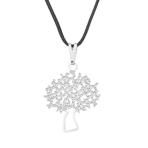 Colar Árvore da Vida 18mm - Sunshine Cristais Cor:Prata