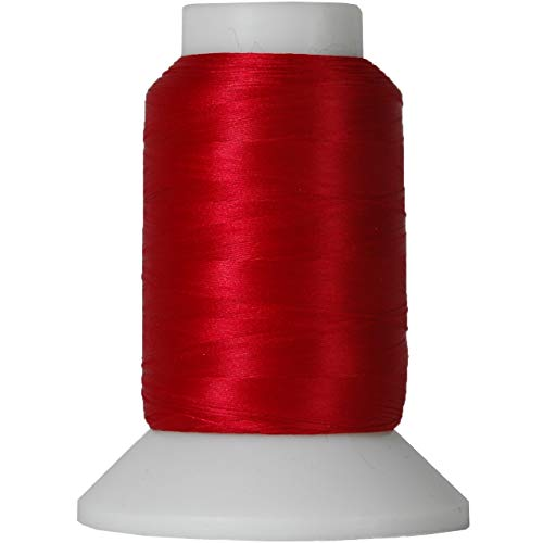 Threadart Wooly Nylon Thread - 1000m Spools - Color 9214 - BAY BERRY - Serger Sewing Stretchy Thread - 50 Colors Available