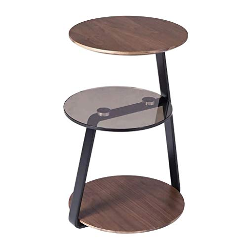 Jixi IJzer kleine salontafel moderne creatieve sofa salontafel woonkamer slaapkamer bijzettafel kantoor verwijderbare glazen theetafel