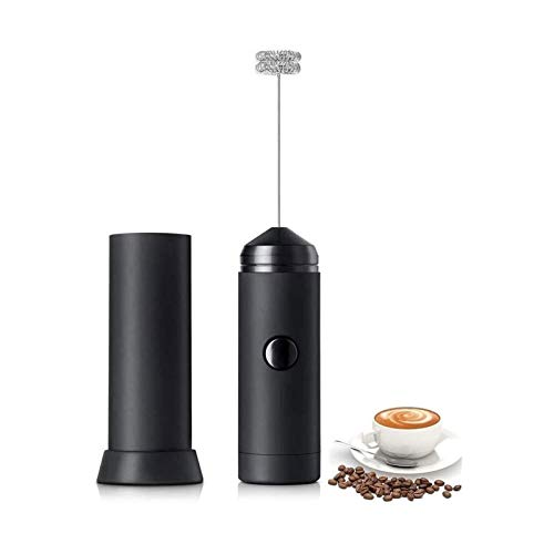 XTZJ Milk Frother Handheld, Electric Milk Foamer for Coffee, Coffee Frother with Stainless Steel Whisk, Drink Mixer for Bulletproof Coffee, Lattes, Cappuccinno, Matcha and Hot Chocolate