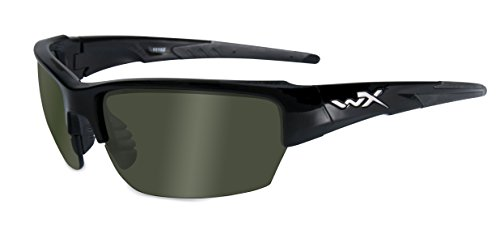 WileyX - Gafas de sol unisex Wx Saint (tallas pequeñas), color negro
