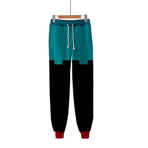 Huiben Anime My Hero Academia Pantalones 3D Impreso Cosplay Gym Joggers Pantalones Casuales Pantalones con cordón Pantalones Deportivos Izuku All Might Cosplay