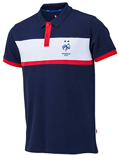 Equipe de FRANCE de football Polo FFF - Collection Officielle Taille Homme L