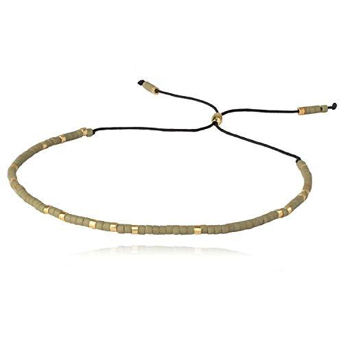 BSbattle Bracelets Beaded Bracelets Handmade Bohemia Strand Bracelet New Mix Adjustable Crystal Bracelet,AZX01821B