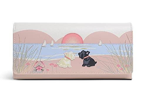 英国 Radley [ラドリー] バー・アイランド 浜辺で夕日をながめてデート スコッティ 牛革 レザー 二つ折り 収納タップリ カード19枚収納 長財布 [並行輸入品]