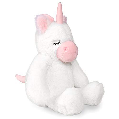 TCBunny 12' Baby Bedtime Unicorn Stuffed Animal Plush Toy for Girls Boys Kids, Cute Unicorn Gifts, Billy (White)