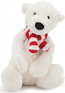 Jellycat Pax Polar Bear Stuffed Animal, Small, 7 inches