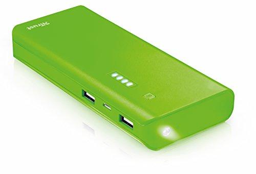 Trust Mobile Primo Powerbank, 10.000 mAh met 2 USB Poorten (voor Tablet & Smartphone), Groen