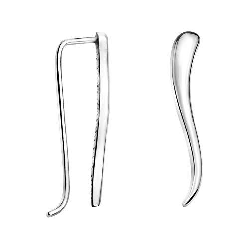 SOFIA MILANI - Damen Ohrringe Ohrklemme als Bogen - Aus echtem 925 Sterling Silber - 20808