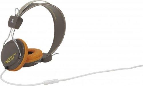 WeSC Bongo OnEar-Kopfhörer (inkl. Hands-Free Unit & Adapter für Sony Ericsson & Nokia) braun