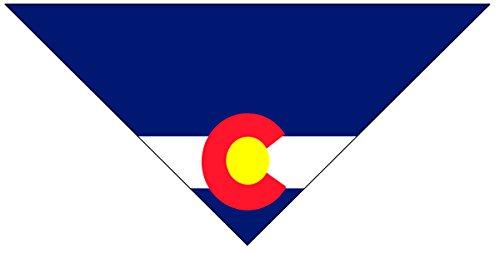 Stonehouse Collection Colorado Flag Dog Bandana - Medium to Large Dogs - CO State Flag Dog Bandana - Dog Accessory (MED-Large)