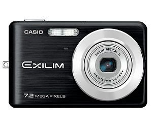 Casio EXILIM EX-Z77 BK Digitalkamera (7 Megapixel, 3-Fach Opt. Zoom, 6,6 cm (2,6 Zoll) Display) schwarz