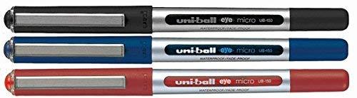Uni-Ball UB-150Eye Micro gemischt 3Stück [1x schwarz, 1x blau, 1x rot]