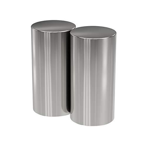 2X Neodym Power Magnet Silber - Stabmagnet extra stark lang - Durchmesser 15x30mm lang - Starke Magneten Supermagnet - Haftkraft ca. 10,5 kg - Magnete für Whiteboard, Pinnwand, Magnettafel, Werkstatt
