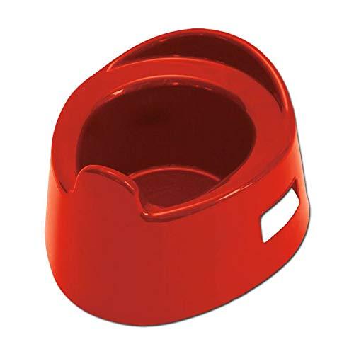 Kindertöpfchen mit seitlichem Griffloch in Rot, Kunststoff | Wiemann Lehrmittel