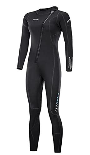 ZCCO 3Mm Neopren-Damen-Neoprenanzug Surfen Surfen Tauchanzug Einteilig Surfen Speerfischen Tauchanzug,Women's Black,M