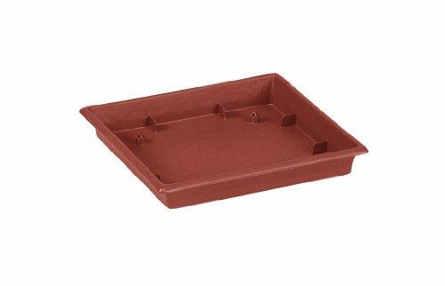 Emsa 504186 - Sottovaso quadrato, modello Terra Grande, dimensioni 35,5 x 35,5 cm, colore: Terracotta