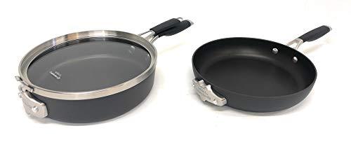 Calphalon Select Space Saving Hard Anodized 3 Piece Cookware Set, 10', BLACK